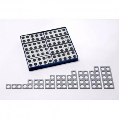 Doos met 80 grijze NUMICON vormen