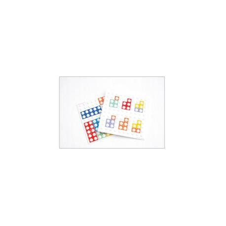 Overleggers met vormcombinaties voor op het basisbord